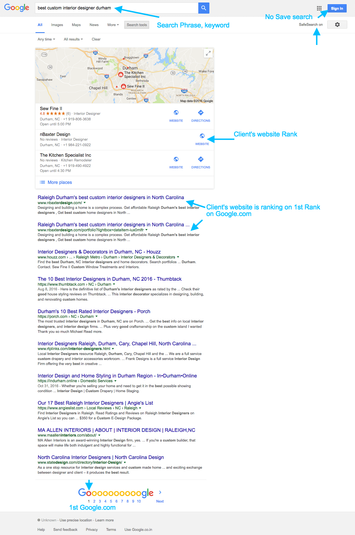 Local SEO in Google 2nd Rank Proof