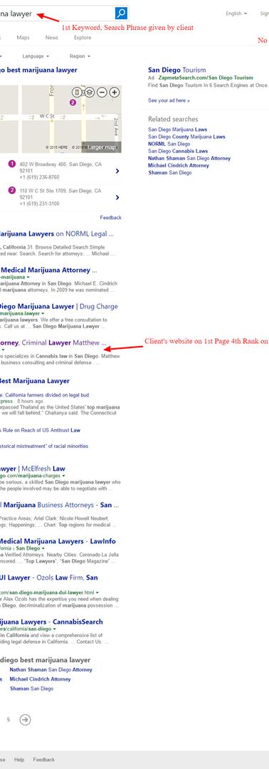 sandiego based lawyer Wix SEO