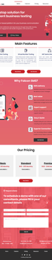 Falcon SMS IT Product Website Design