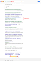 1st Page Google Ranking Proof