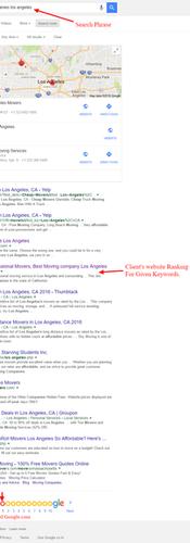 LA Based moving company's SEO