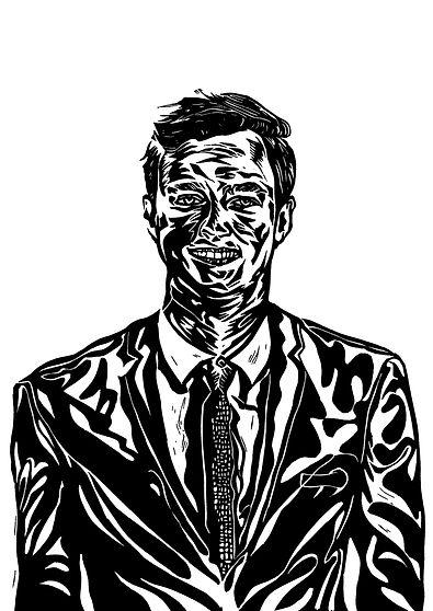 Lino cut portrait
