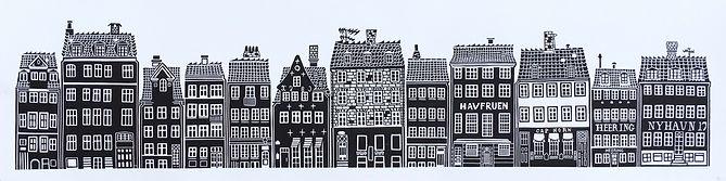 Copenhagen original linocut print