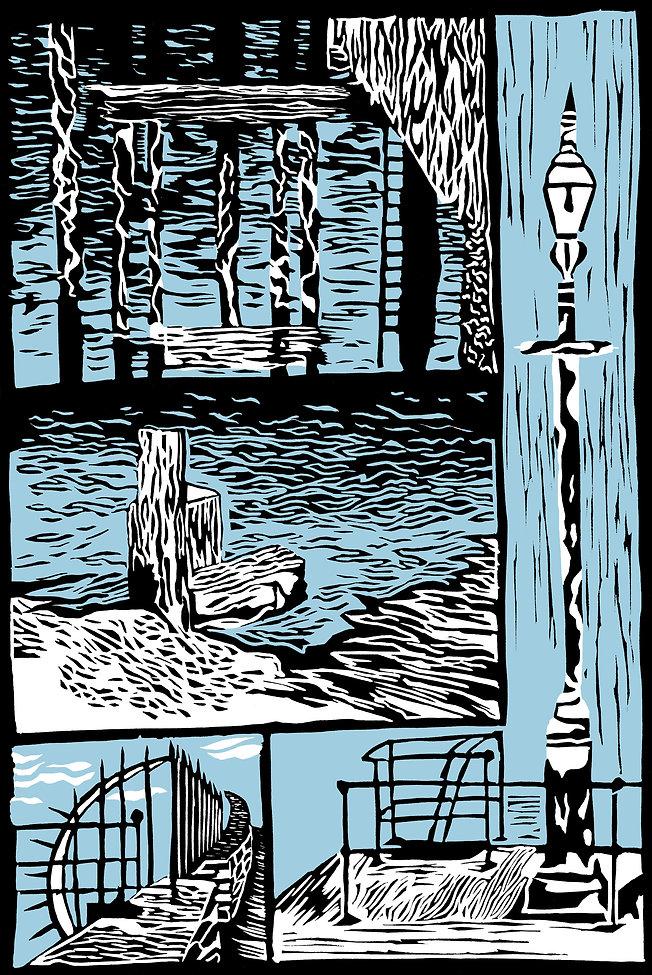 Docks fine art print