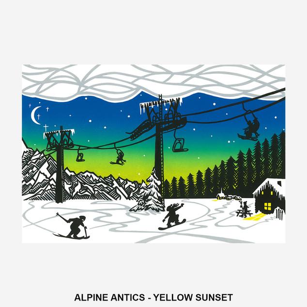 Alpine Antics - Yellow