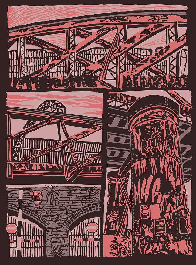 Evening Railway Line fine art print