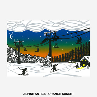 Alpine Antics - Orange