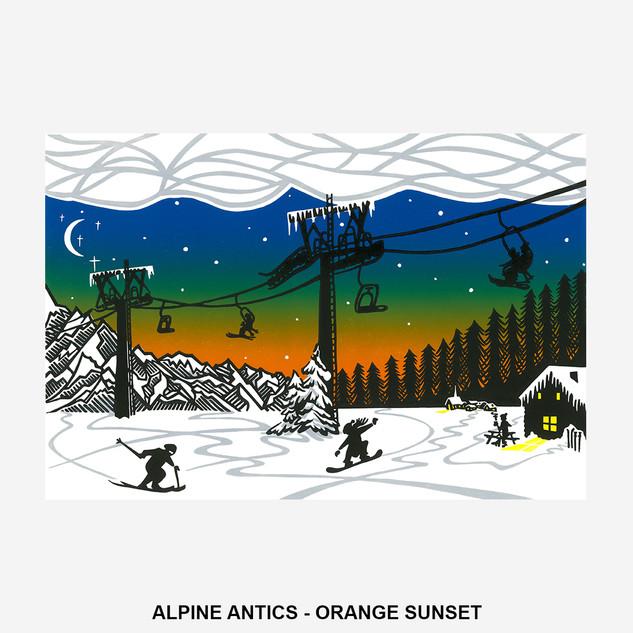 Alpine Antics - Orange