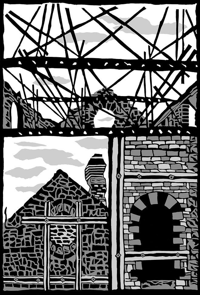 Gasworks Building fine art print