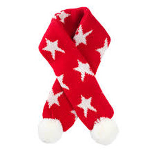 House of Paws Christmas Star Scarf in Grey or Red