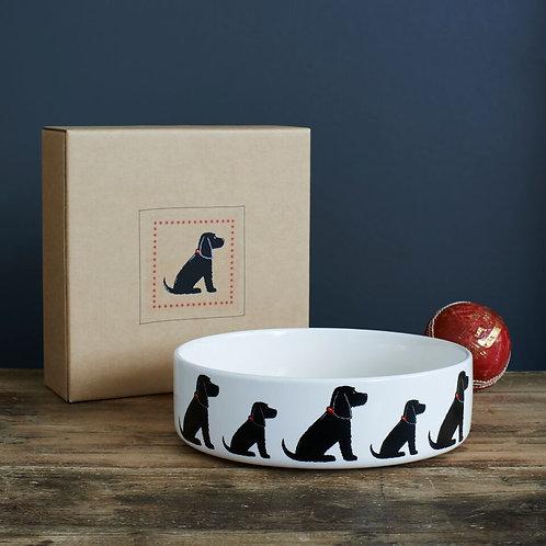 Black Cocker Spaniel dog bowl