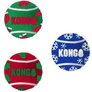 KONG Xmas Sport Balls (3 pack) medium