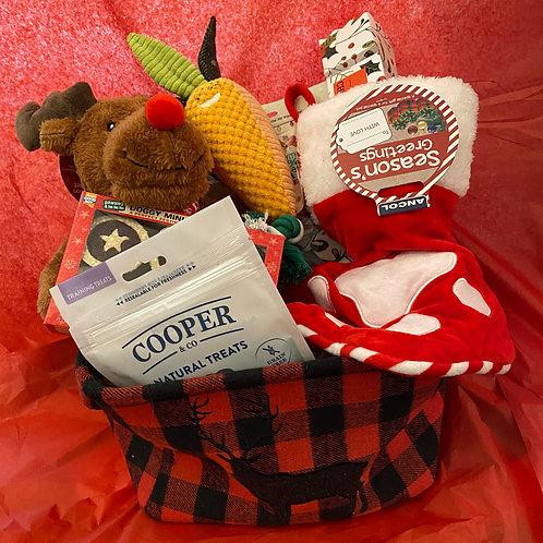 Highland Reindeer Christmas Storage Dog Gift Box
