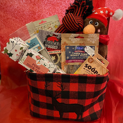 Highland Christmas Storage Dog Gift Box