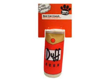 The Simpsons - Duff Beer Can Crunch Dog Toy