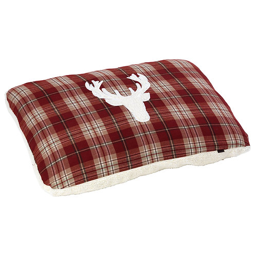 Rustic Tweed Pillow Dog Bed - Small/Medium