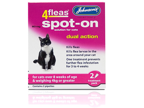 Johnsons 4fleas Dual Action Spot On for Cats Over 4kg