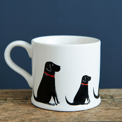 Black Labrador - Mischievous Mutts Mugs