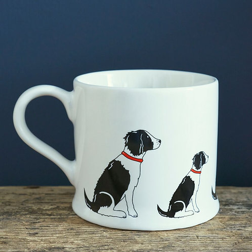 Springer Spaniel (Black and white) - Mischievous Mutts Mugs