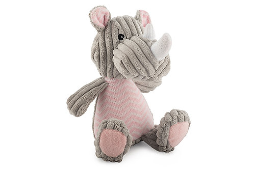 Ancol Plush Knitted Rhino Dog Toy
