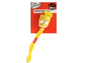 The Simpsons Bart Rope Retriever Dog Toy