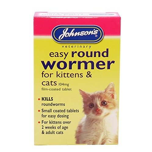 Johnson's Easy Round Wormer for Cats and Kittens