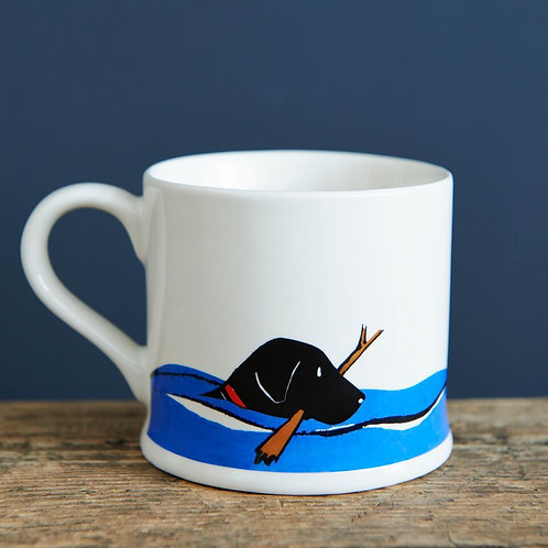 Swimming Black Labrador - Mischievous Mutts Mugs