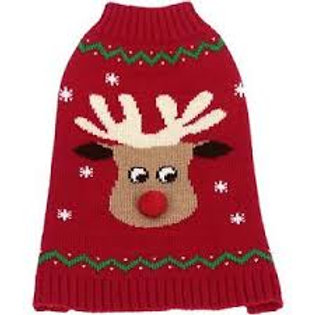 Animate Christmas Crew Neck Reindeer Jumper for Dogs