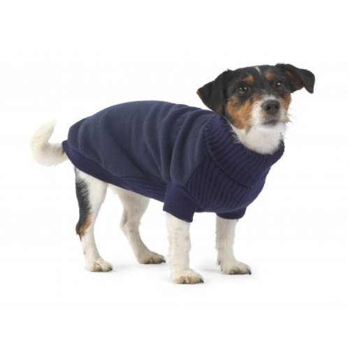 Fleece & Knit Dog Jumper Navy