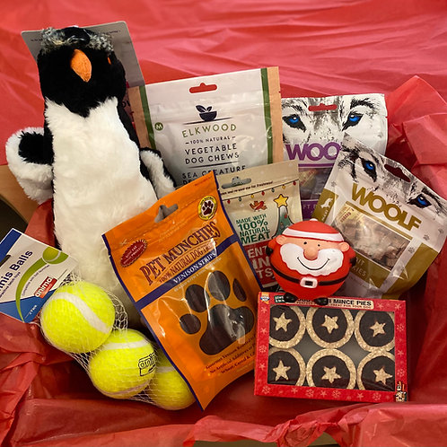 Woolf Christmas dog gift box