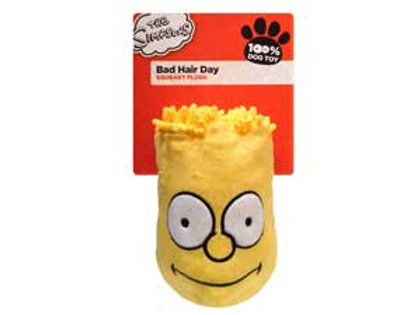 The Simpsons Bart Bad Hair Day Dog Toy
