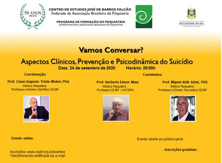 24/9 | Vamos Conversar? Aspectos Clínicos e Psicodinâmicos do Suicídio