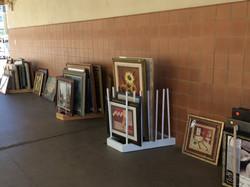 2018 Jun 19 - Rummage - Artwork lining hallway - 2
