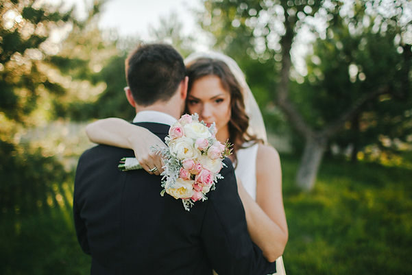 Outdoor Wedding Bride & Groom