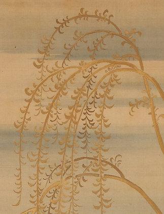 tsurusawa tansen kaki byoso painted mounting