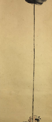 tomita keisen yarimochi spear bearer painting detail-3
