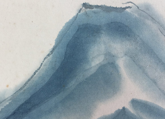 noguchi kenzo fuji landscape painting detail
