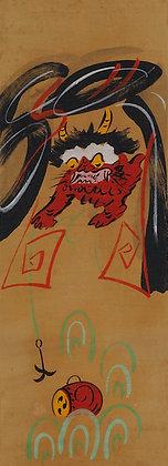 otsu-e folk painting tonari no taiko