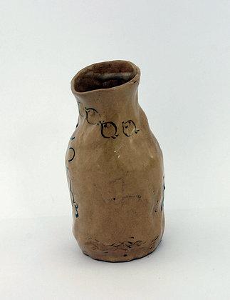 Otagaki Rengetsu ceramic tokkuri sake bottle poem