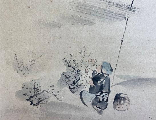 otagaki rengetsu painting scroll view-3