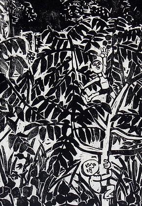 Inui Tai woodblock modern hanga