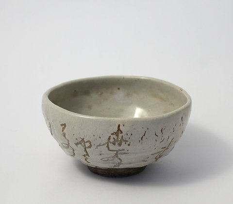 otagaki rengetsu chawan teabowl with poem view-3