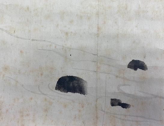 otagaki rengetsu pair of scroll paintings view-7