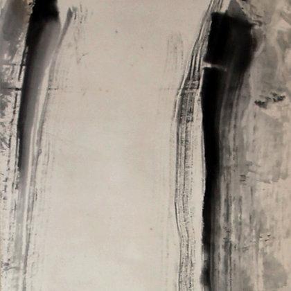 fukuda kodojin nachi waterfall original tomobako box view-