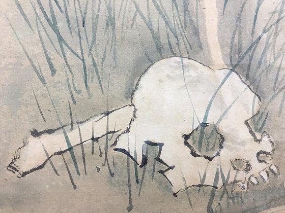 kawanabe kyosai skull ghost painting