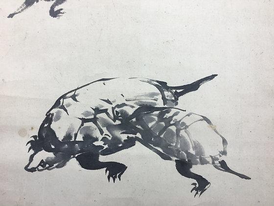 asia week new york 2018 otagaki rengetsu mori kansai turtle poem scroll certificate view-