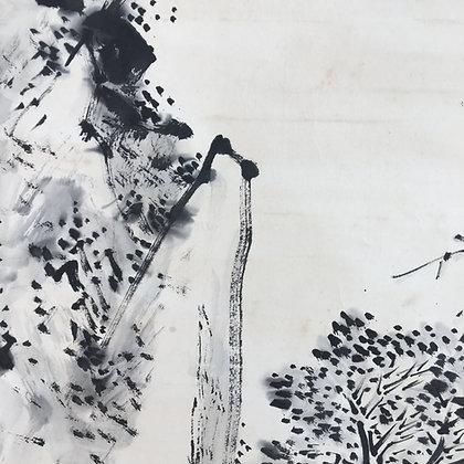 fukuda kodojin nanga literati landscape painting view-6