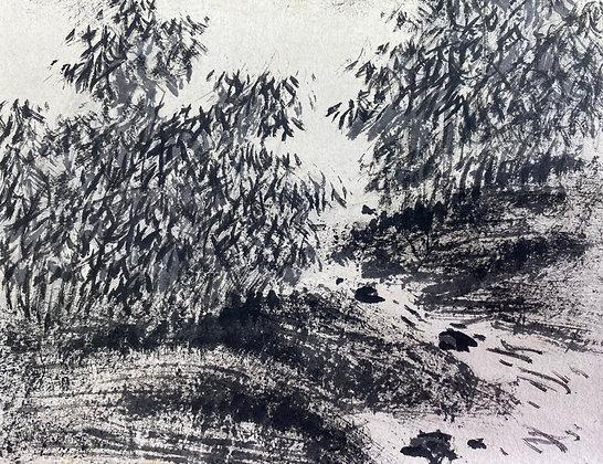 uragami gyokudo nanga landscape scroll view-1