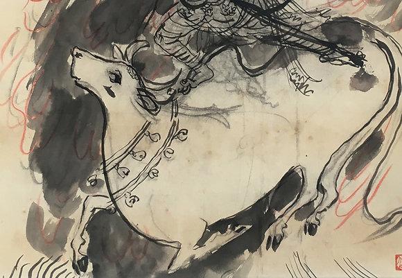 Tomita Keisen painting detail