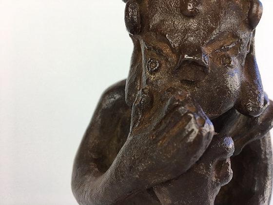 shimizu kosho bronze sculpture okimono original tomobako box